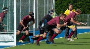 Men's 1s defending a short corner